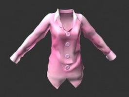 Light pink blouse 3d model