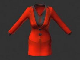 Office uniforms for women 3d model