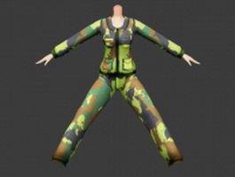 Camouflage uniform 3d model