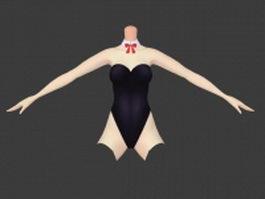 Bunny girl costume 3d model