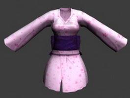 Pink Kimono 3d model