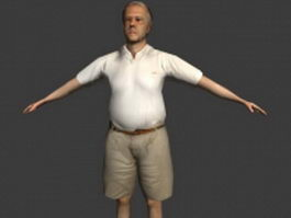 Old fat man 3d model