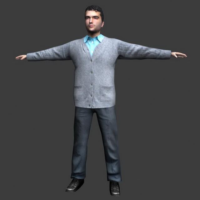 Business Man Posing 3d Model 3ds Max Lightwave Object