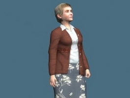 Nice old lady 3d model