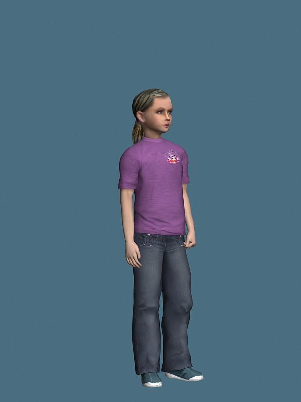 Teen girl posing 3d model 3ds max,Maya files free download