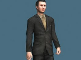 Handsome young businessman 3d model