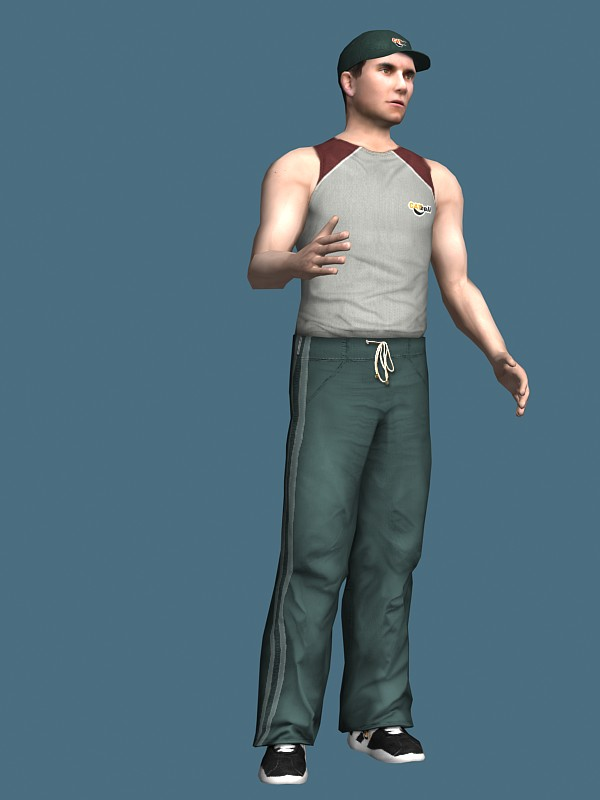 3d Models For Poser And Daz Studio: Baseball Player Rigged 3d Model 3ds Max,Maya Files Free