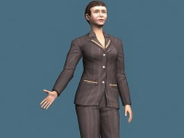 Middle aged business woman rigged 3d model