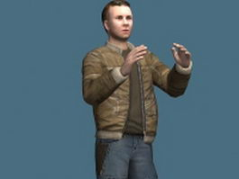 Man in casual clothes 3d model