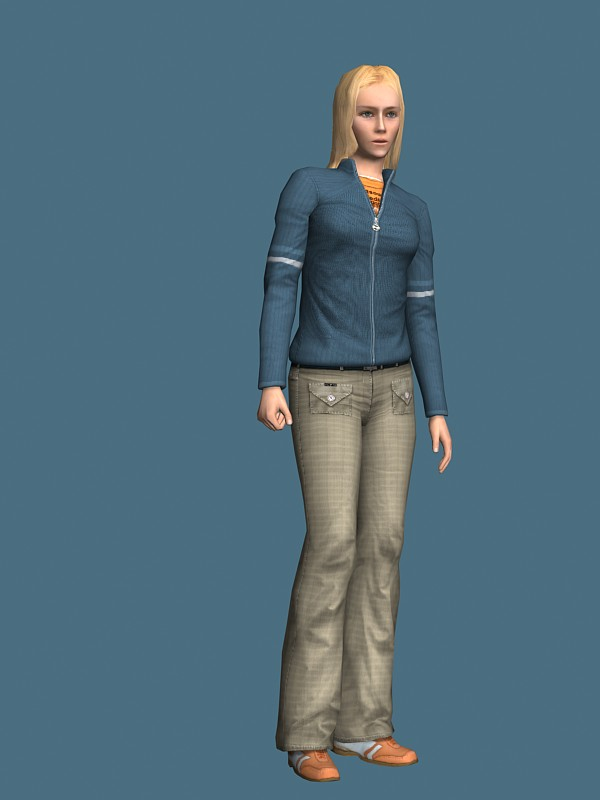 3d model of blonde - photo #16