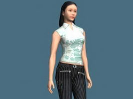 Sporty woman rigged 3d model