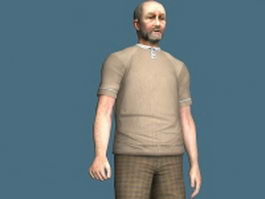 Old French man 3d model