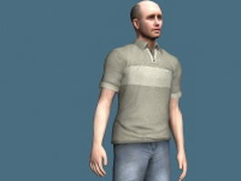 Bald man 3d model