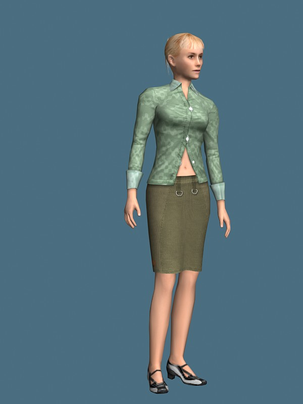 3d model of blonde - photo #21