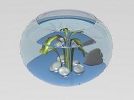 A fishbowl 3d model