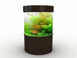 Small cylinder aquarium 3d model