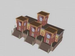 Vintage townhouse 3d model