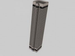 City office tower 3d model