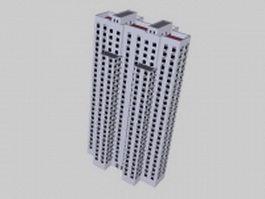High-rise apartment 3d model