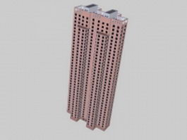 Tower block apartment 3d model