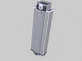 Office tower building 3d model