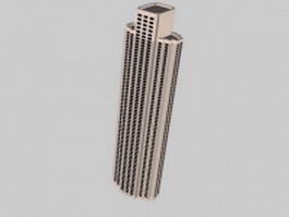 High-rise office architecture 3d model