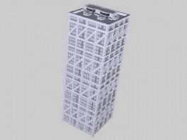 High rise office building 3d model