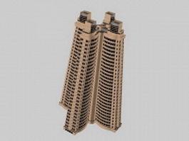 Pyramid apartment 3d model