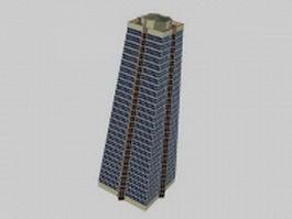 Pyramid apartment tower 3d model