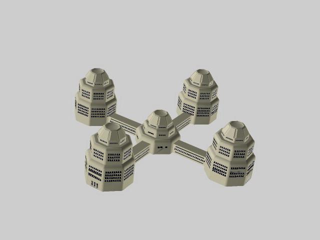 Sci Fi building concept 3d model - CadNav