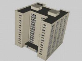 Middle school building 3d model