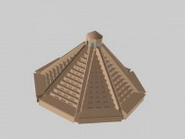 Pyramid sacrificial altar 3d model