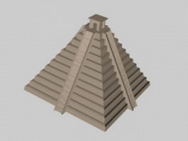 Ancient Mayan temple 3d model