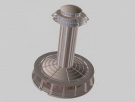 View tower 3d model