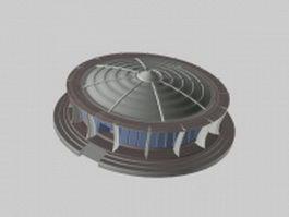 City pavilion 3d model