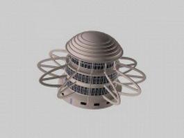 Modern round building 3d model