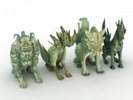 Fantasy creature 3d model