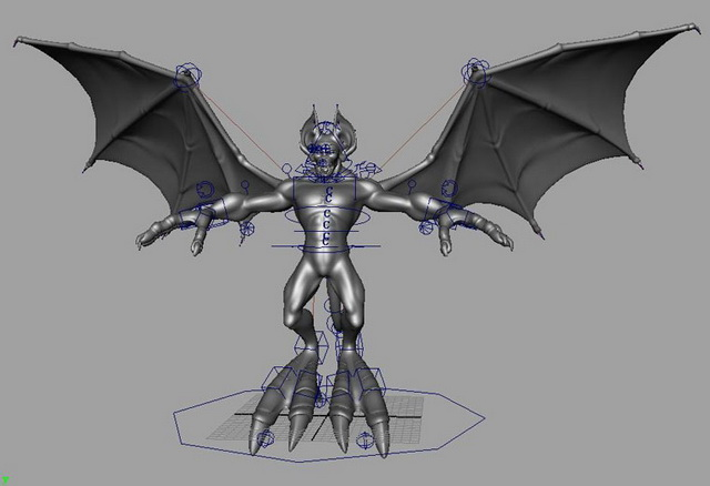 devil rigged 3d model maya files free download modeling 23143 on