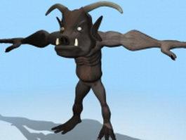 Humanoid beast 3d model