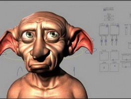 Dobby rigged 3d model