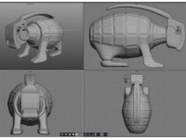 Grenade Bunny 3d model