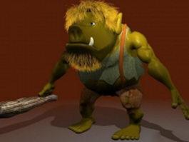 Pigman warrior 3d model