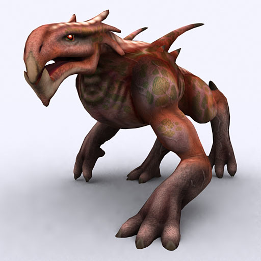 Fantasy felhound monster rigged animated 3d model files for Monster 3d model