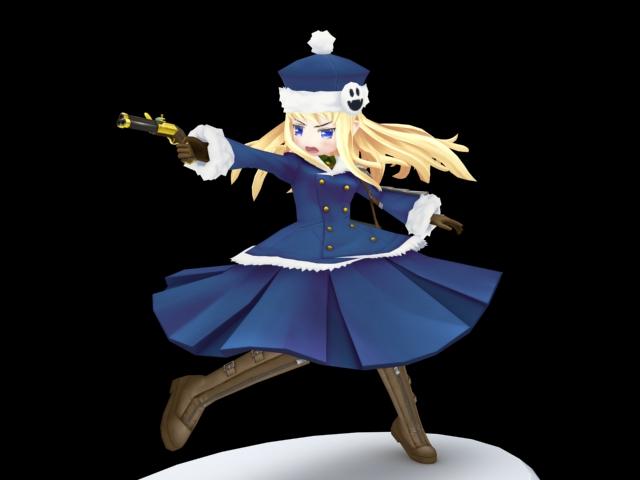anime gunner girl 3d model 3ds max files free download