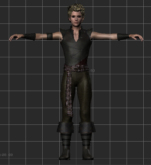 Thin male rigged 3d model FBX files free download - modeling 23179