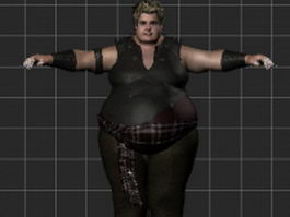 Fat male rigged 3d model