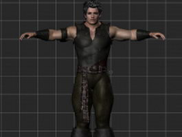 Strong male rigged 3d model