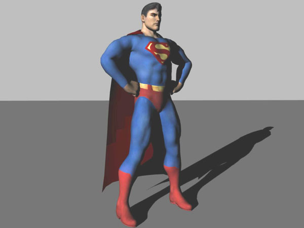 Introduction To Character Modeling In Blender Free Download : Superman d model blender files free download modeling
