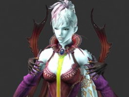 Fantasy women warrior 3d model