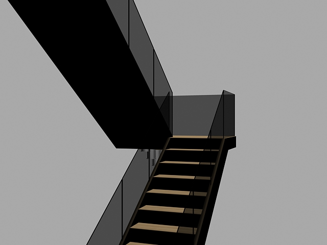 Winder Stairs And Straight Stairs 3D Model